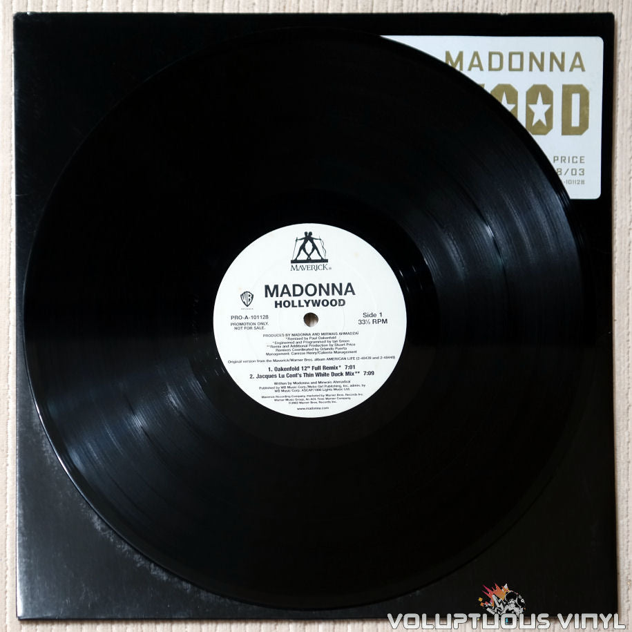 Madonna ‎– Hollywood (Remixes Part 1) - Vinyl Record - Side 1