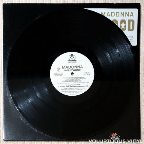 Madonna ‎– Hollywood (Remixes Part 1) - Vinyl Record - Side 2