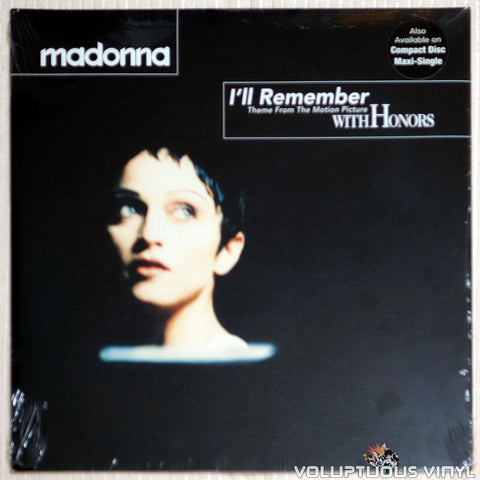 Madonna ‎– I'll Remember - Vinyl Record - Front Cover