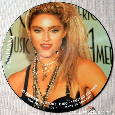 Madonna ‎– Interview Picture Disc - Vinyl Record - Side 1