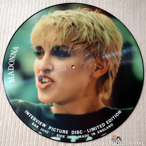 Madonna ‎– Interview Picture Disc - Vinyl Record - Side 2