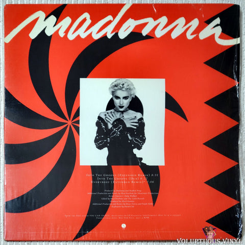 Madonna ‎– Into The Groove / Everybody vinyl record front cover