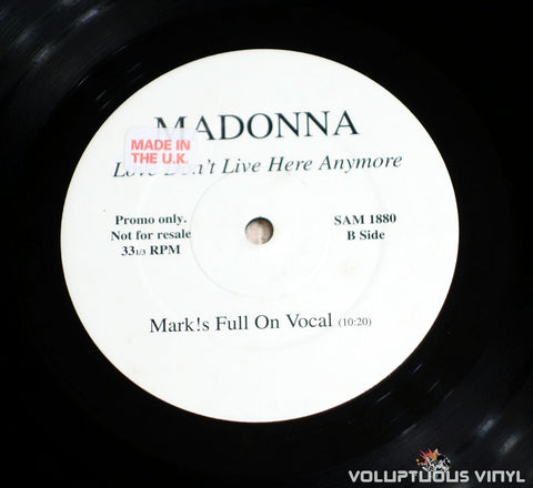 Madonna ‎– Love Don't Live Here Anymore vinyl record Side B