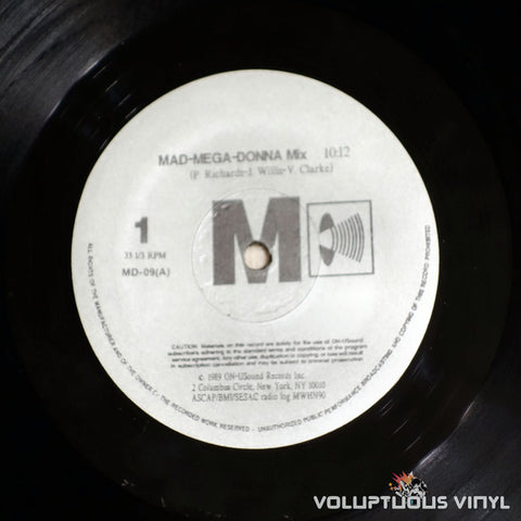 Madonna ‎– Mad-Mega-Donna Mix - Vinyl Record - Side A