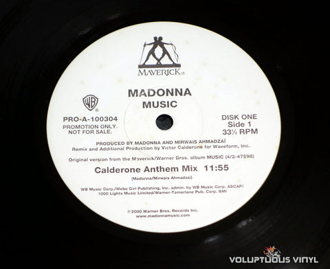"Madonna ‎– Music (2000) 2x12"" Single PROMO - Vinyl Record - Label"