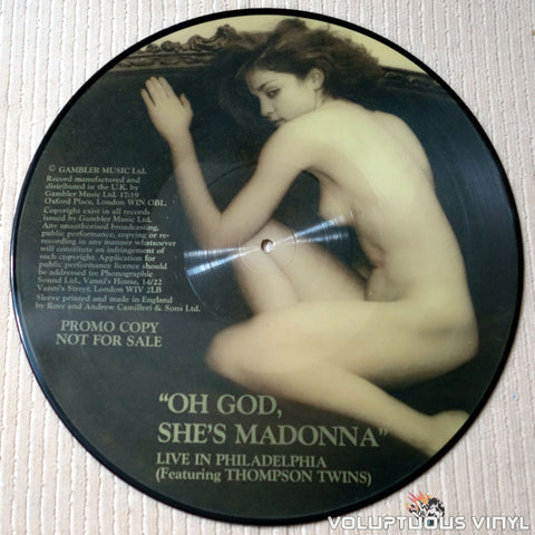 Madonna ‎– Oh God, She's Madonna - Vinyl Record - Nude Picture Disc