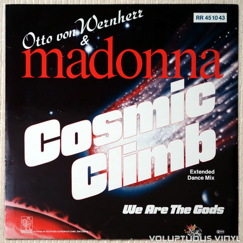 "Madonna & Otto Von Wernherr ‎– Cosmic Climb (1987) 12"" Single, German Press"