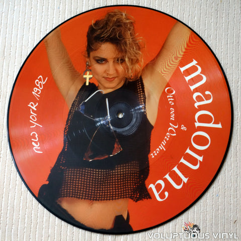 "Madonna & Otto Von Wernherr ‎– New York 1982 (1988) 12"" Picture Disc, German Press"