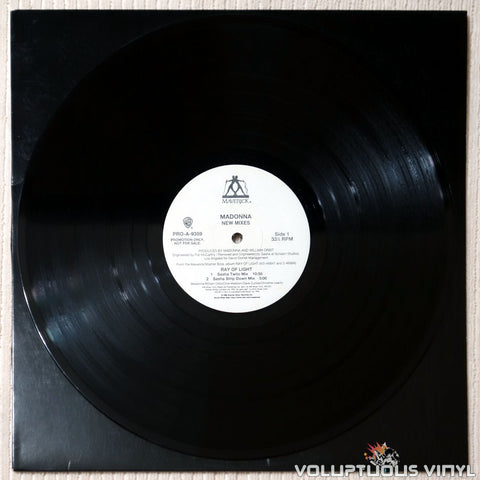 Madonna ‎– Ray Of Light (New Mixes) - Vinyl Record - Side 1