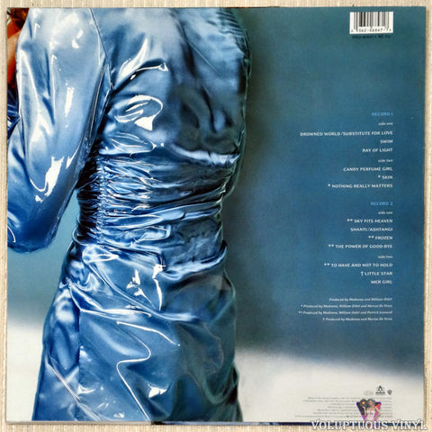 Madonna ‎– Ray Of Light vinyl record back cover