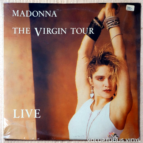 Madonna ‎– The Virgin Tour Live - Vinyl Record - Front Cover