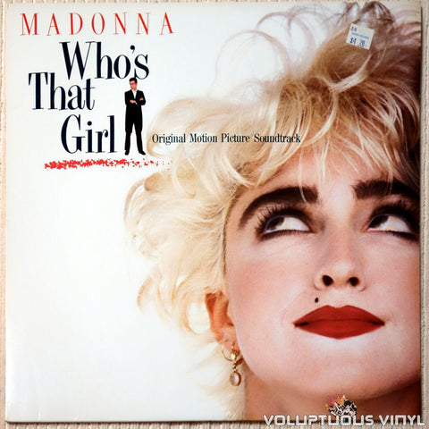 Madonna ‎– Who's That Girl vinyl record front cover