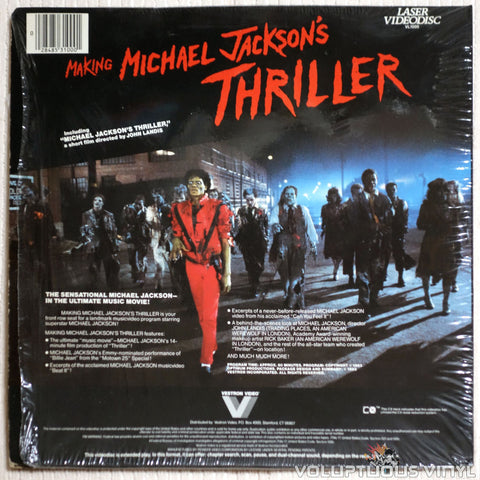 Michael Jackson: Making Michael Jackson's Thriller - Laserdisc - Back Cover