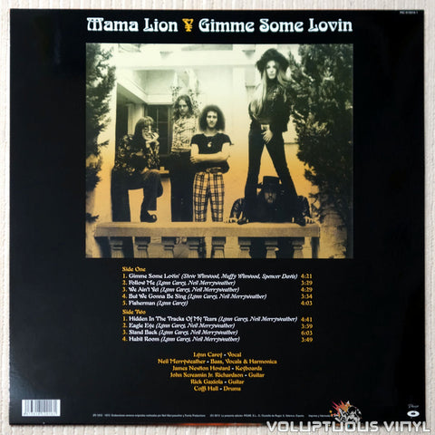 Mama Lion ‎– Gimme Some Lovin' - Vinyl Record - Back Cover