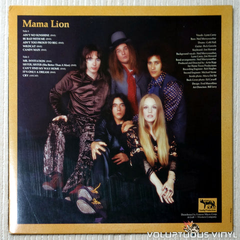 Mama Lion ‎– Preserve Wildlife - Vinyl Record - Back Cover