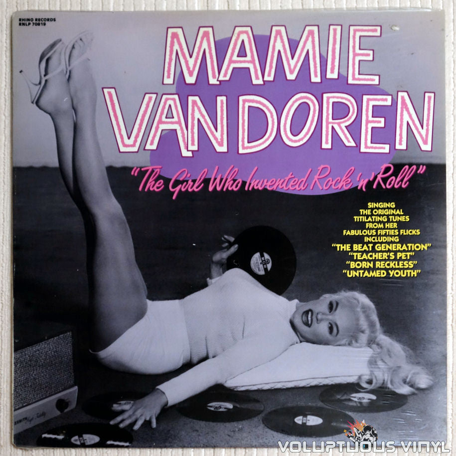 Mamie Van Doren ‎– The Girl Who Invented Rock 'n' Roll - Vinyl Record - Front Cover