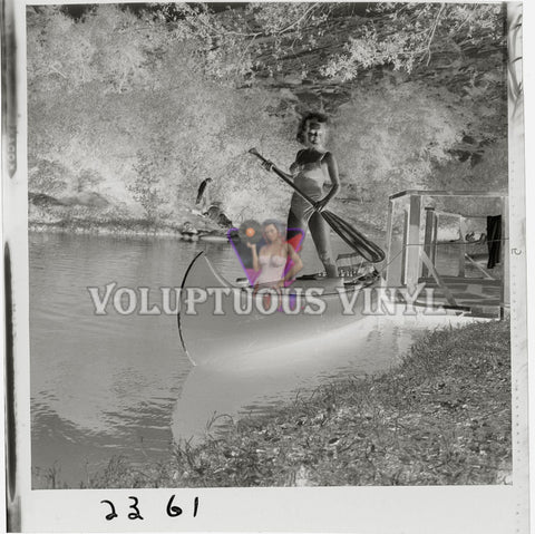 Mamie Van Doren Swimsuit Canoe - College Confidential negative photo