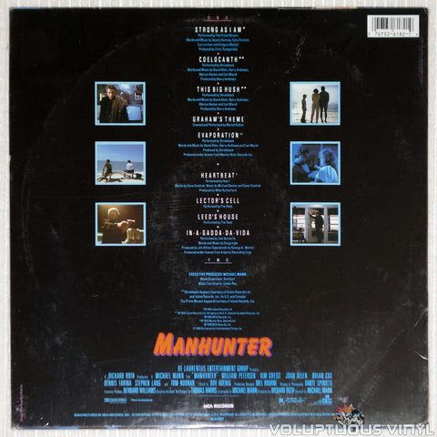 Various ‎– Manhunter Soundtrack - Vinyl Record - Back Cover