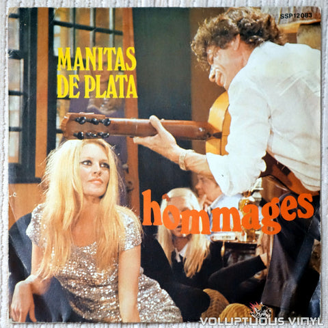 "Manitas De Plata ‎– Hommages (1977) 7"" EP, French Press"