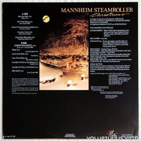 Mannheim Steamroller ‎– Christmas - Vinyl Record - Back Cover