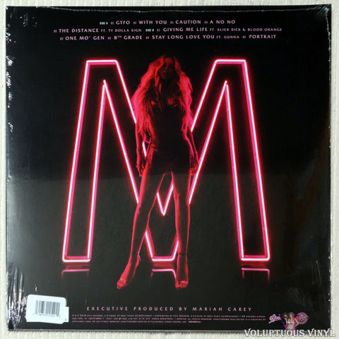 Mariah Carey ‎– Caution vinyl record back cover