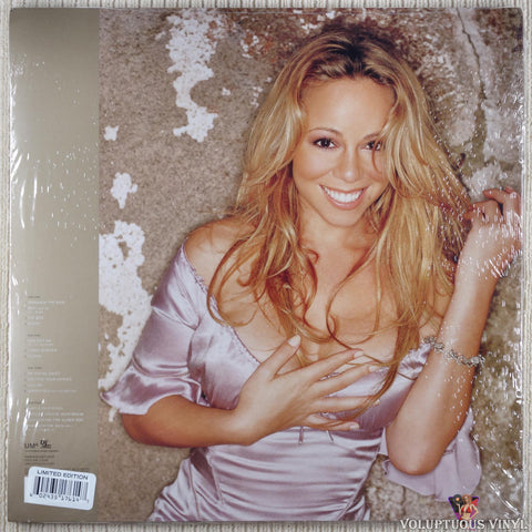 Mariah Carey ‎– Charmbracelet vinyl record back cover