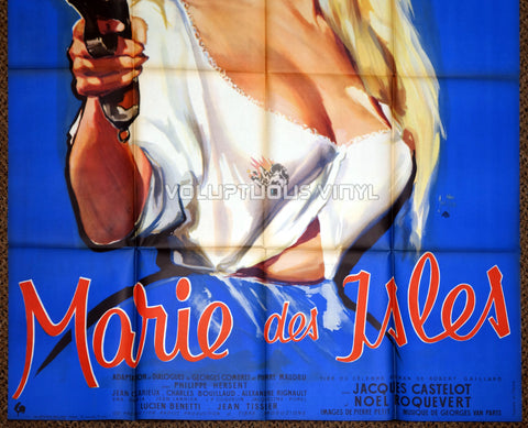 Marie of the Isles (1959) - French Grande - Belinda Lee Busty Barmaid - Bottom Half