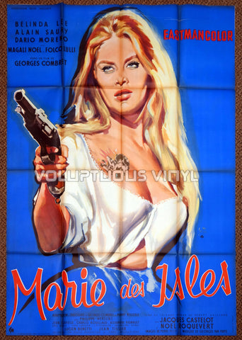 Marie of the Isles (1959) - French Grande - Belinda Lee Busty Barmaid - Movie Poster