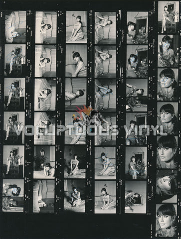 Marisa Mell bedroom shoot contact sheet