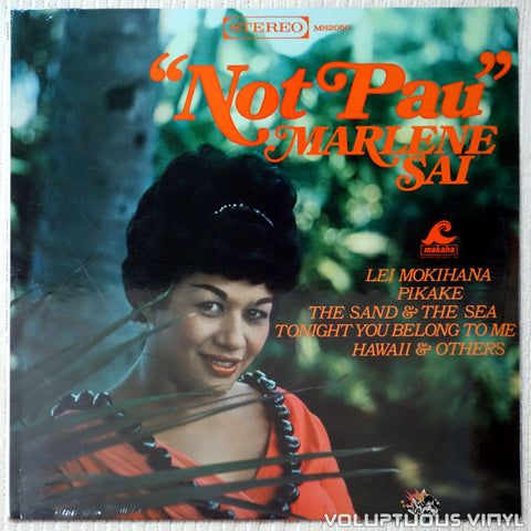 "Marlene Sai ‎– ""Not Pau"" - Vinyl Record - Front Cover"