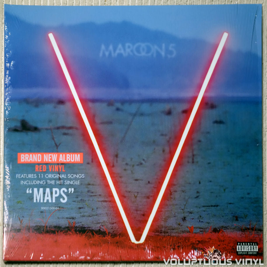 Maroon 5 ‎– V - Vinyl Record - Front Cover