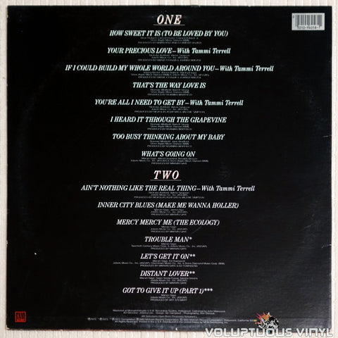 Marvin Gaye ‎– Every Great Motown Hit Of Marvin Gaye - Vinyl Record - Back Cover