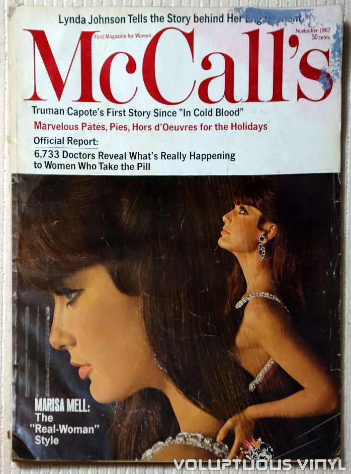 McCall's - November 1967 - Marisa Mell Front Cover