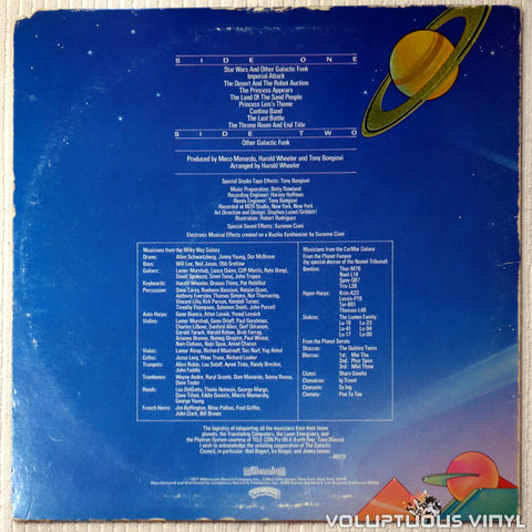 Meco ‎– Music Inspired By Star Wars And Other Galactic Funk - Vinyl Record - Back Cover