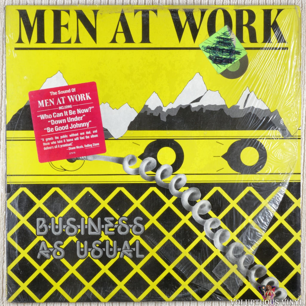 Men At Work ‎– Business As Usual vinyl record front cover