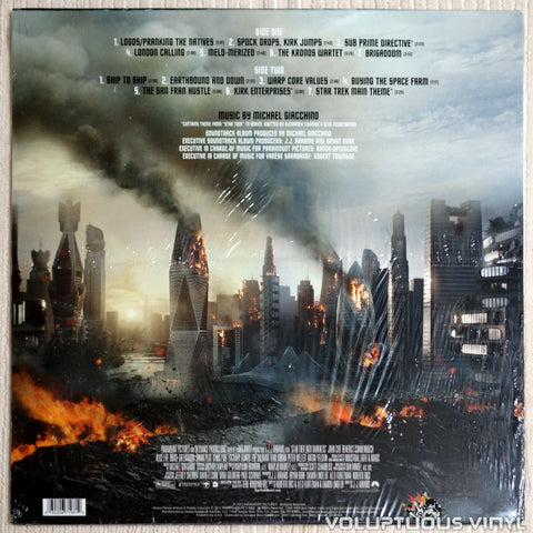 Michael Giacchino ‎– Star Trek Into Darkness - Vinyl Record - Back Cover