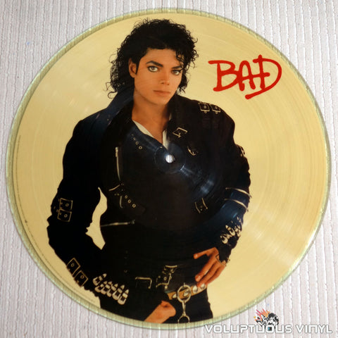 Michael Jackson ‎– Bad - Vinyl Record - Picture Disc - Side 1