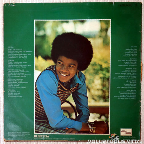 Michael Jackson ‎– Music & Me - Vinyl Record - Back Cover