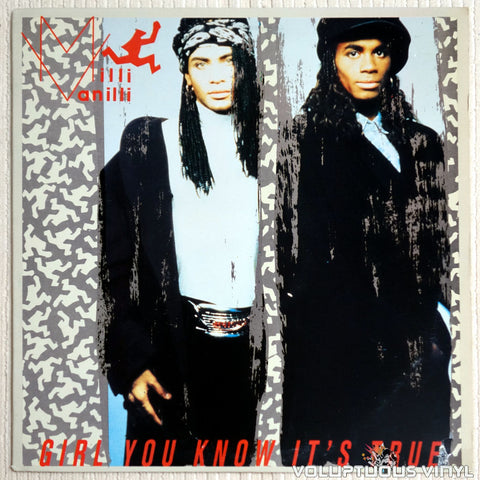 Milli Vanilli ‎– Girl You Know It's True - Vinyl Record - Front Cover