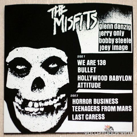 "The Misfits ‎– Beware 7"" EP - Vinyl EP - Back Cover"