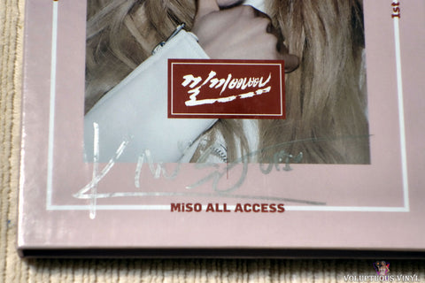 Miso ‎– Miso All Access CD front cover autograph
