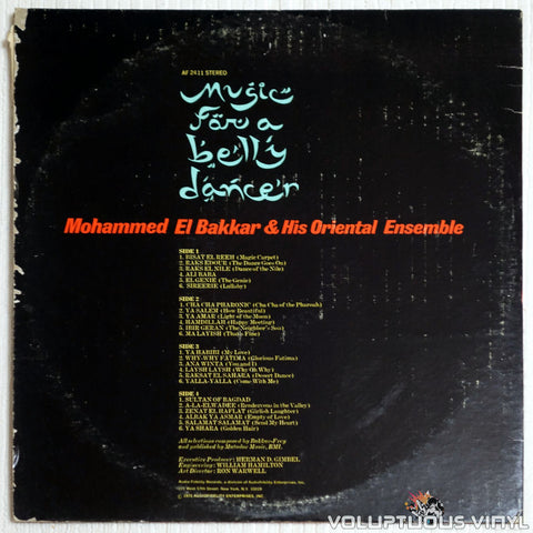 Mohammed El-Bakkar & His Oriental Ensemble ‎– Music For A Belly Dancer - Vinyl Record - Back Cover