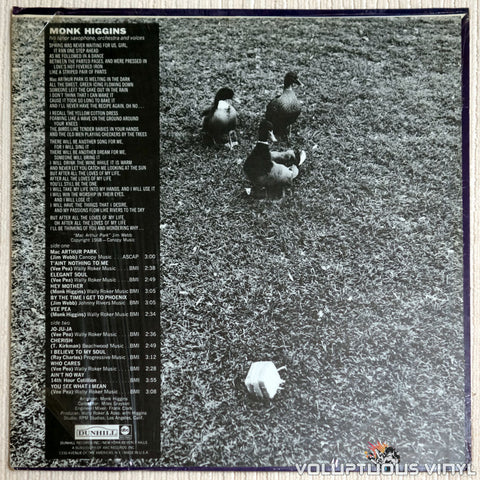 Monk Higgins ‎– Mac Arthur Park - Vinyl Record - Back Cover