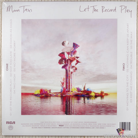 Moon Taxi ‎– Let The Record Play vinyl record back cover