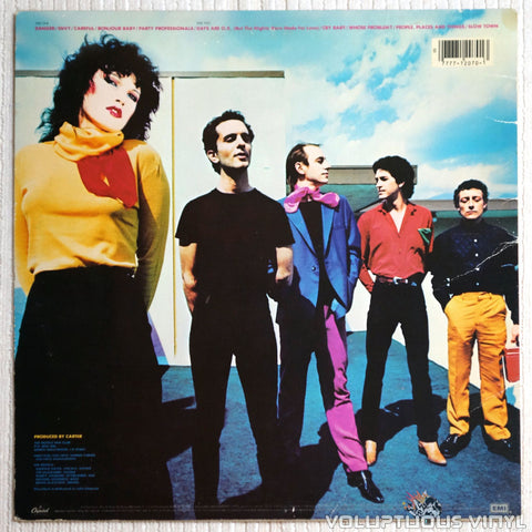 The Motels ‎– Careful - Vinyl Record - Back Cover