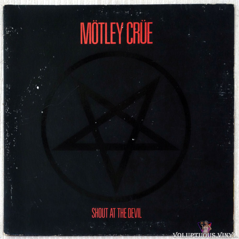 Mötley Crüe ‎– Shout At The Devil vinyl record front cover