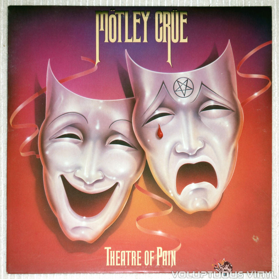 Mötley Crüe ‎– Theatre Of Pain - Vinyl Record - Front Cover