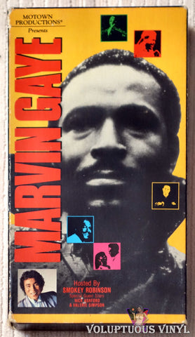 Motown Productions Presents: Marvin Gaye Hosted by Smokey Robinson VHS front cover
