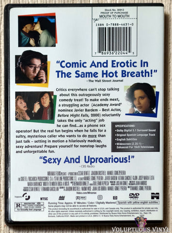 Mouth To Mouth DVD back cover