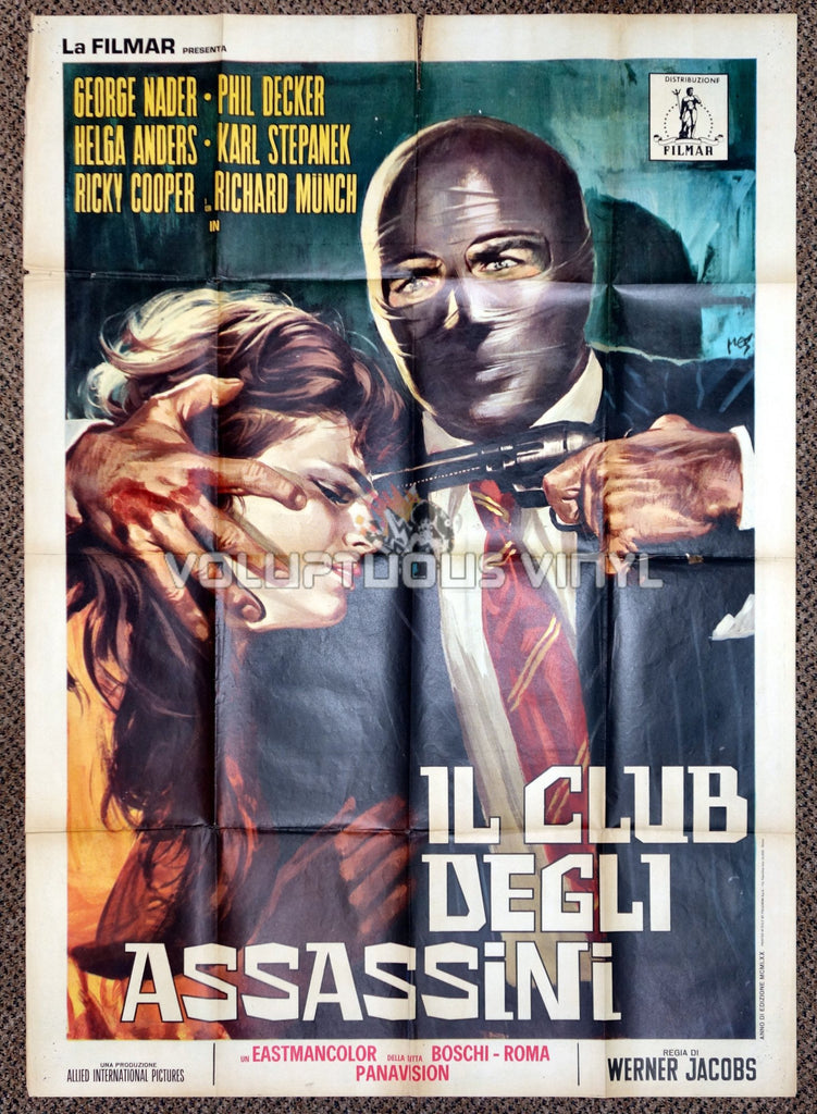 Murderers Club of Brooklyn 1970 Italian 2F Poster